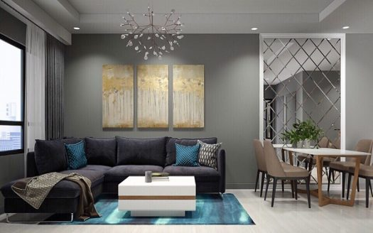 Gold View Project - Modern Interior Design, Nice, Full Furniture, 71sqm, 2Brs.