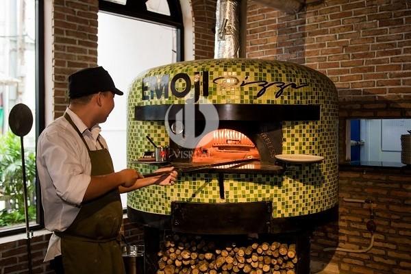 Emoji - a restaurant of handmade pizza, wood-fired oven in Saigon