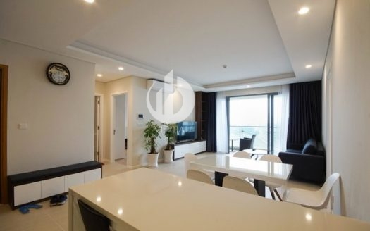 Diamond Island Apartment – The apartment is elegantly designed with an elegant white color.